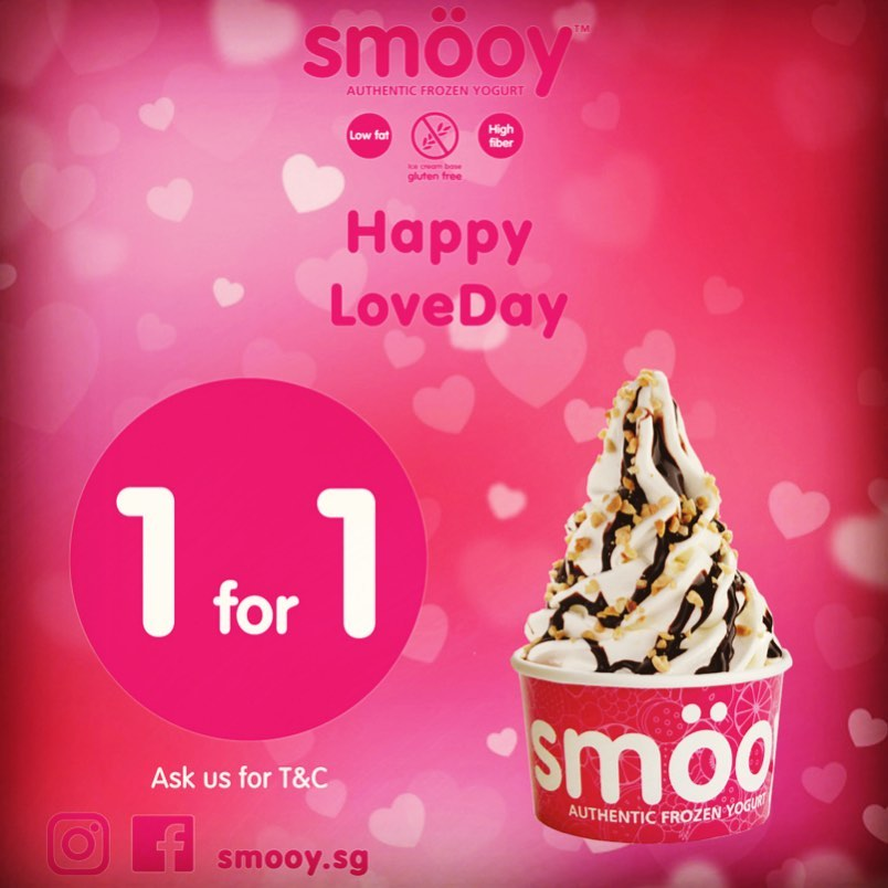 Smöoy Singapore 1-for-1 Promotion 13-15 Feb 2020 | Why Not Deals & Promotions
