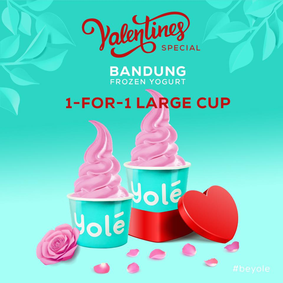 Yolé SG Valentine's Special 1-for-1 Large Bandung Cup on 6 Feb 2020 | Why Not Deals & Promotions