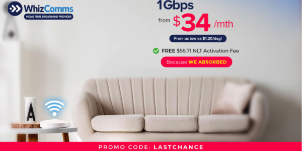 WhizComms' 8-Day 1Gbps Broadband Deals, Available from Now to 31 March 2020 Only   Why Not Deals 3 & Promotions