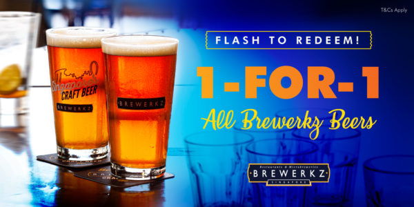 1-for-1 on all Beers @ All Brewerkz Outlets! | Why Not Deals & Promotions