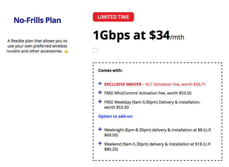 WhizComms' 8-Day 1Gbps Broadband Deals, Available from Now to 31 March 2020 Only   Why Not Deals 1 & Promotions