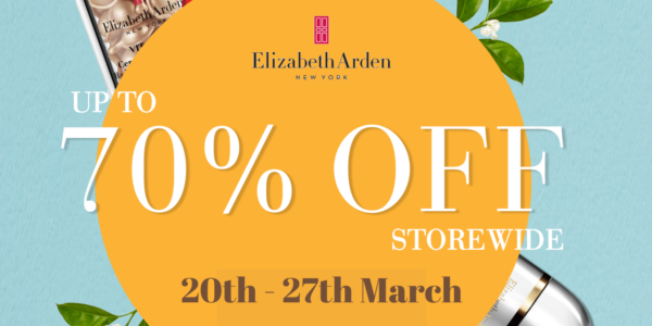 Elizabeth Arden: Up to 70% OFF on Lazada from now till 27th March | Why Not Deals 1 & Promotions