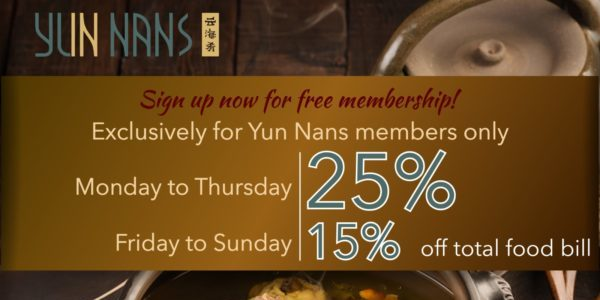 Yun Nans Member's Promotion   Why Not Deals 1 & Promotions
