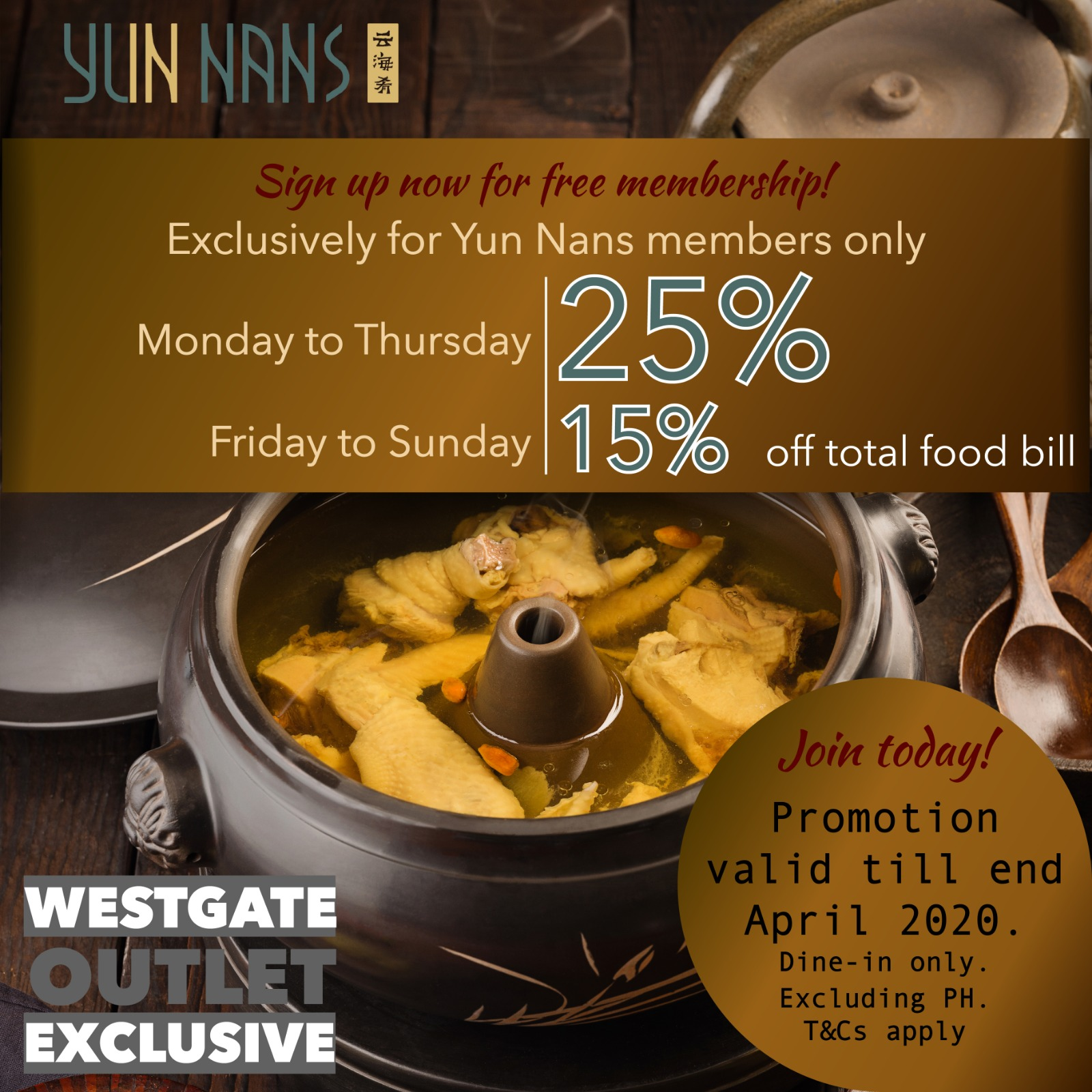 Yun Nans Member's Promotion   Why Not Deals & Promotions