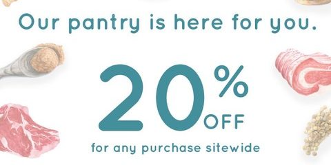Enjoy 20% off for any purchase at portopantry | Why Not Deals 1 & Promotions