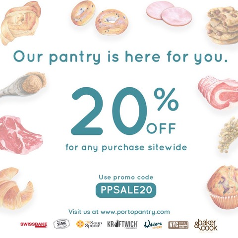 Enjoy 20% off for any purchase at portopantry | Why Not Deals & Promotions