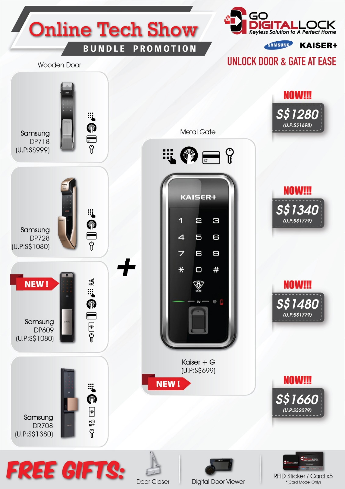 ONLINE TECH SHOW DIGITAL LOCK BUNDLE DEALS 2020 SINGAPORE | Why Not Deals & Promotions