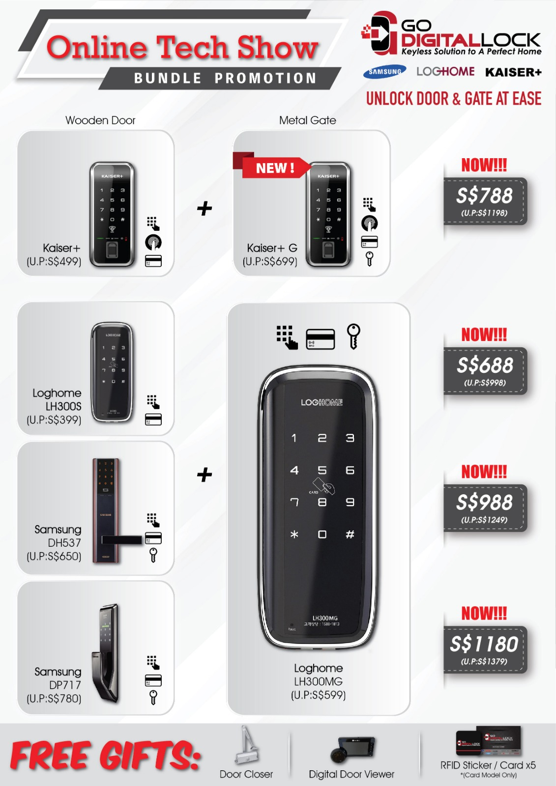 ONLINE TECH SHOW DIGITAL LOCK BUNDLE DEALS 2020 SINGAPORE | Why Not Deals 2 & Promotions