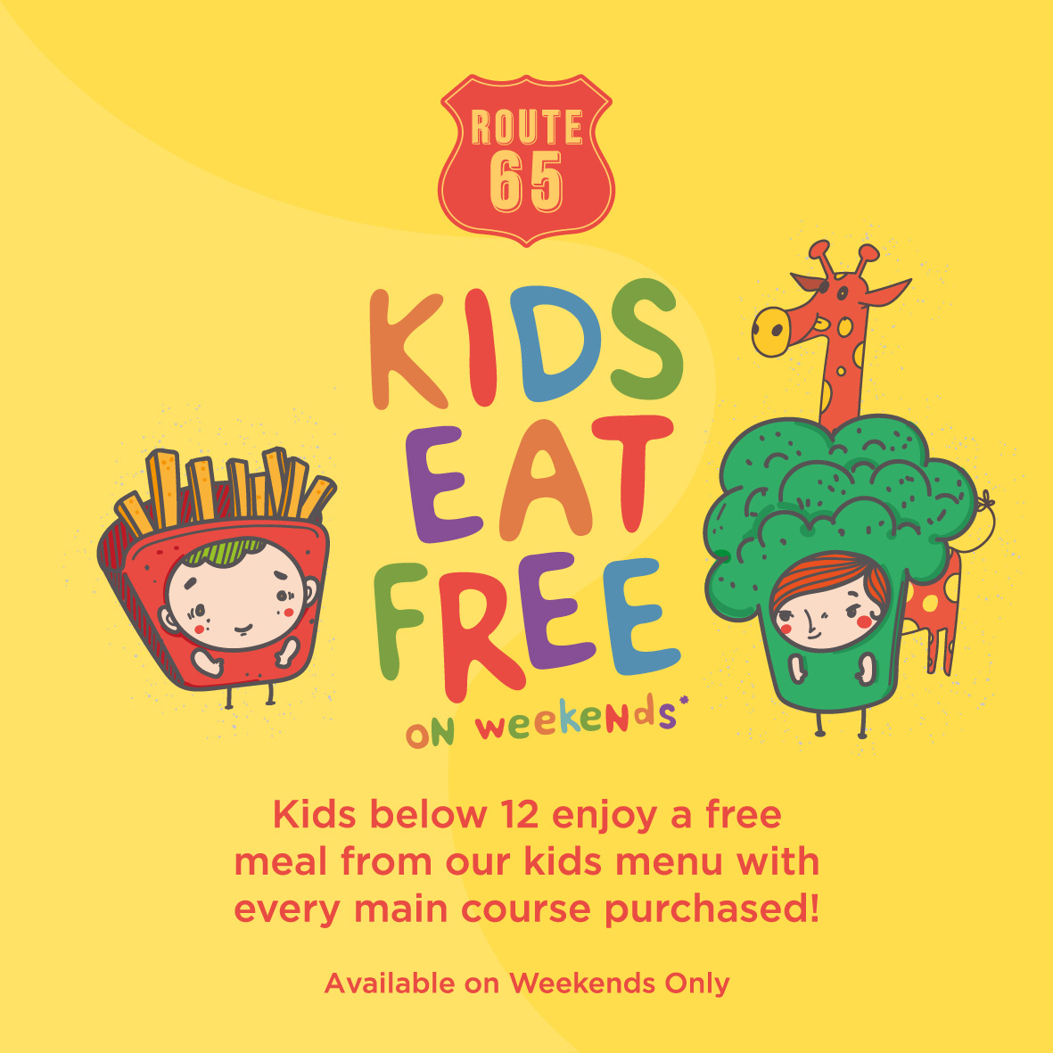 Enjoy attractive promotions such as 1-for-1 Mains at Route 65 Bar + Kitchen | Why Not Deals 1 & Promotions