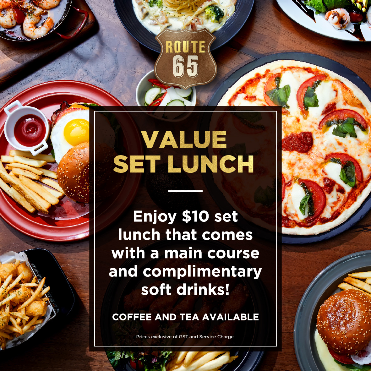 Enjoy attractive promotions such as 1-for-1 Mains at Route 65 Bar + Kitchen | Why Not Deals 2 & Promotions