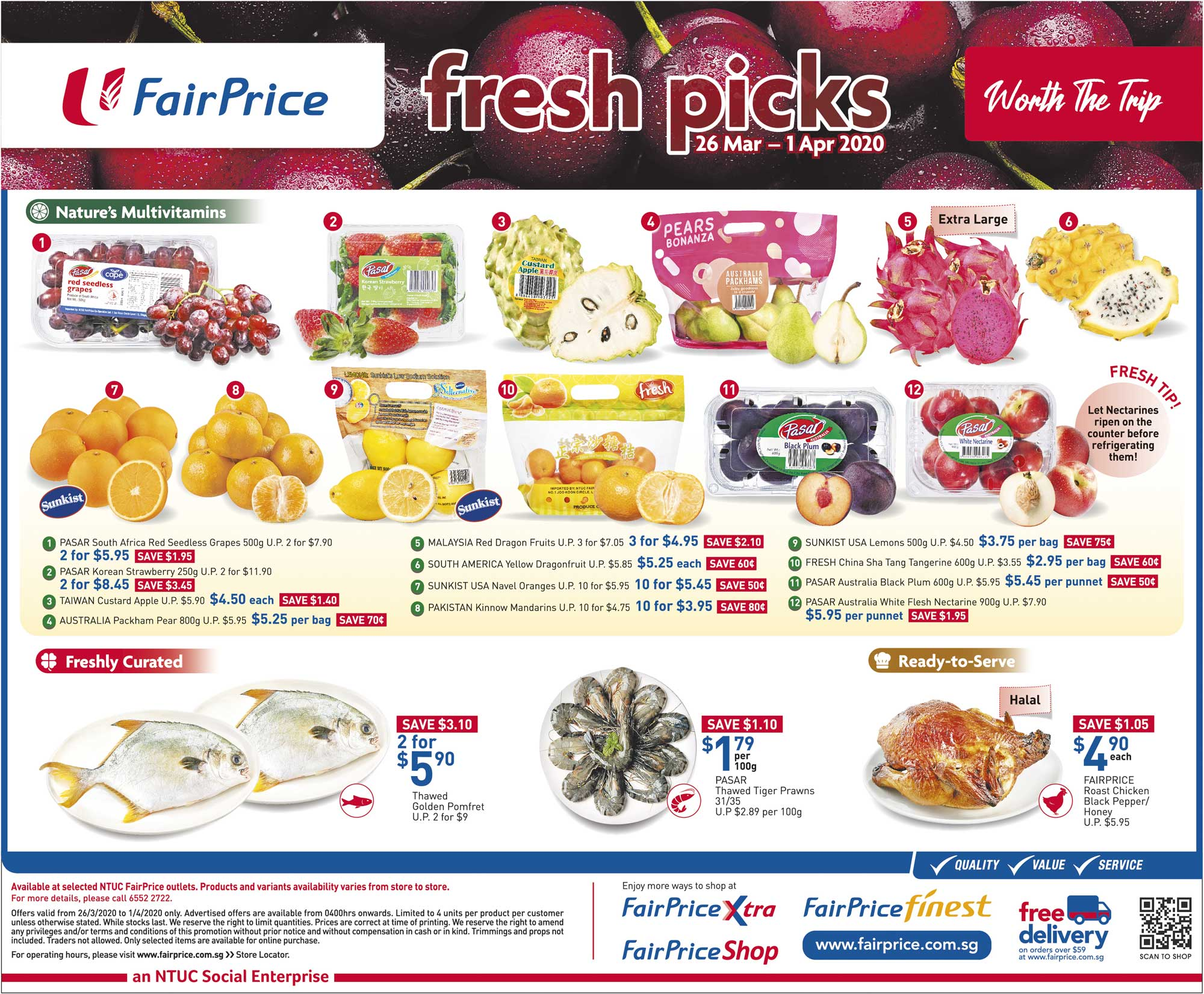 NTUC FairPrice SG Your Weekly Saver Promotion 26 Mar - 1 Apr 2020 | Why Not Deals 2 & Promotions