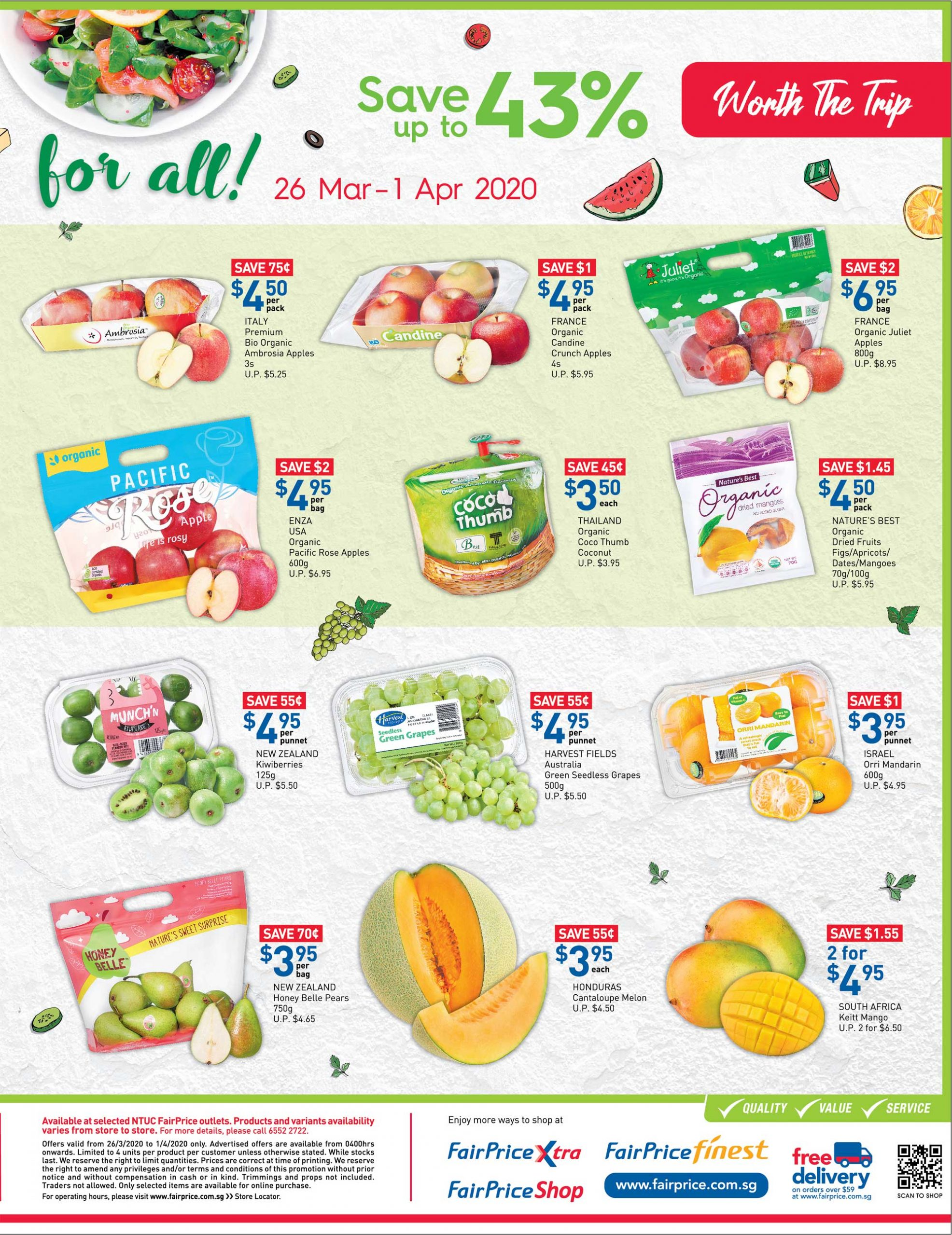 NTUC FairPrice SG Your Weekly Saver Promotion 26 Mar - 1 Apr 2020 | Why Not Deals 4 & Promotions