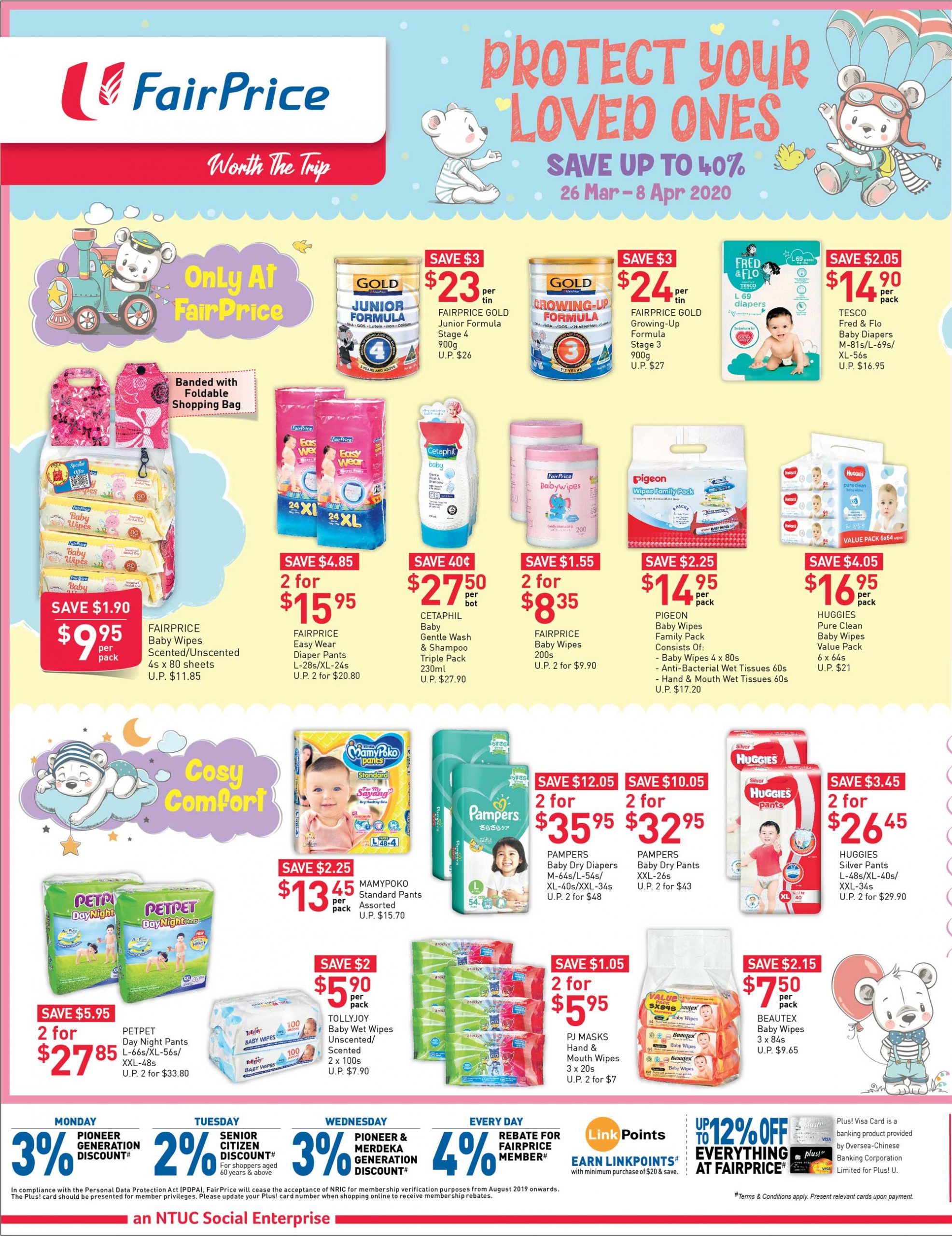 NTUC FairPrice SG Your Weekly Saver Promotion 26 Mar - 1 Apr 2020 | Why Not Deals 5 & Promotions