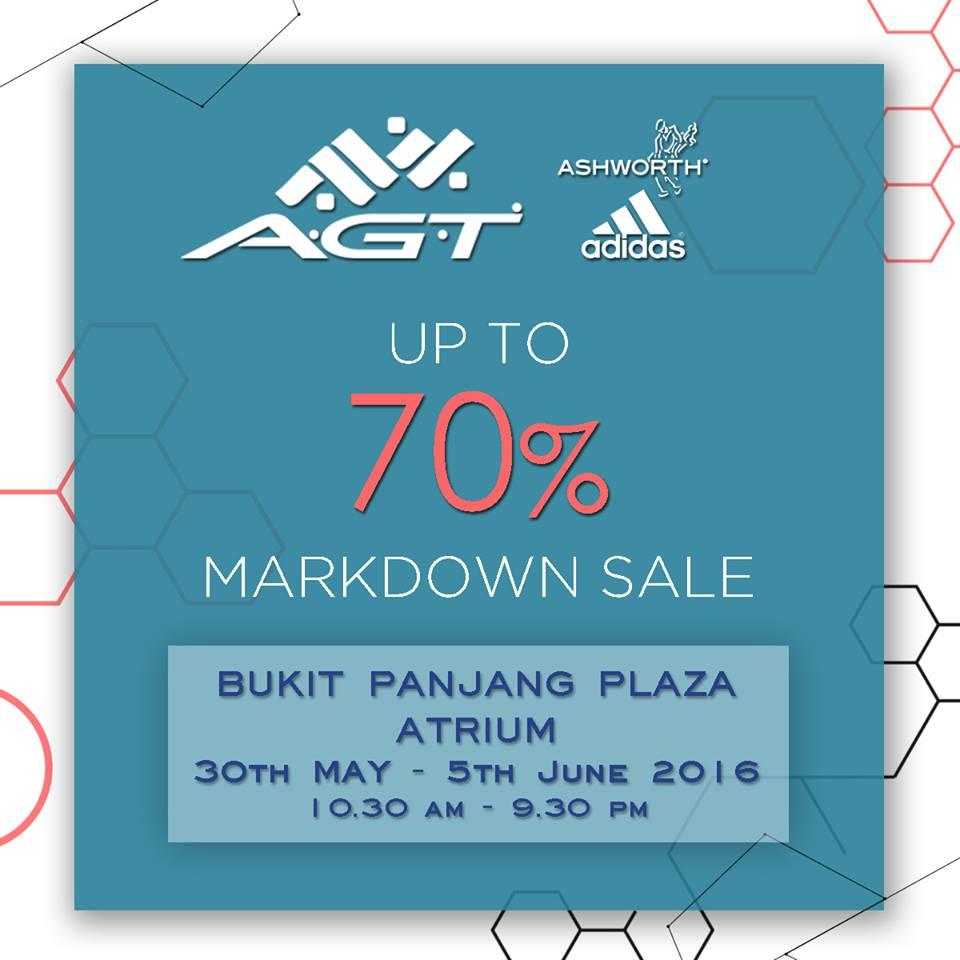 A.G.T. Adidas Ashworth Texan Markdown Sales 30 May to 5 Jun 2016