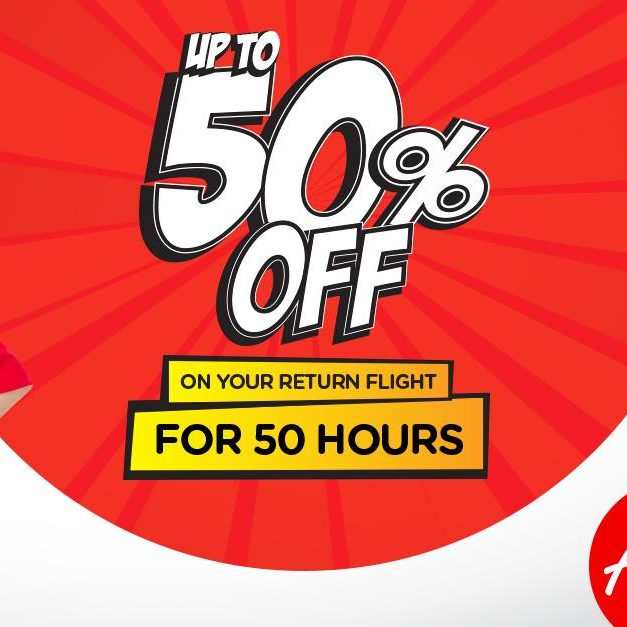 AirAsia Singapore Up to 50% Off Return Flights Ends 18 May 2016