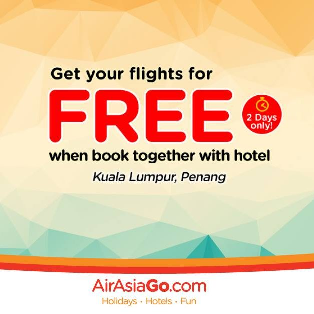 AirAsiaGo Singapore FREE Flight with Flight & Hotel Package 13 Jun to 30 Aug 2016