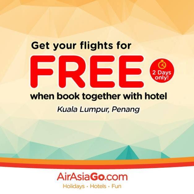 AirAsiaGo Singapore FREE Flight with Flight & Hotel Package 13 Jun to 30 Aug 2016