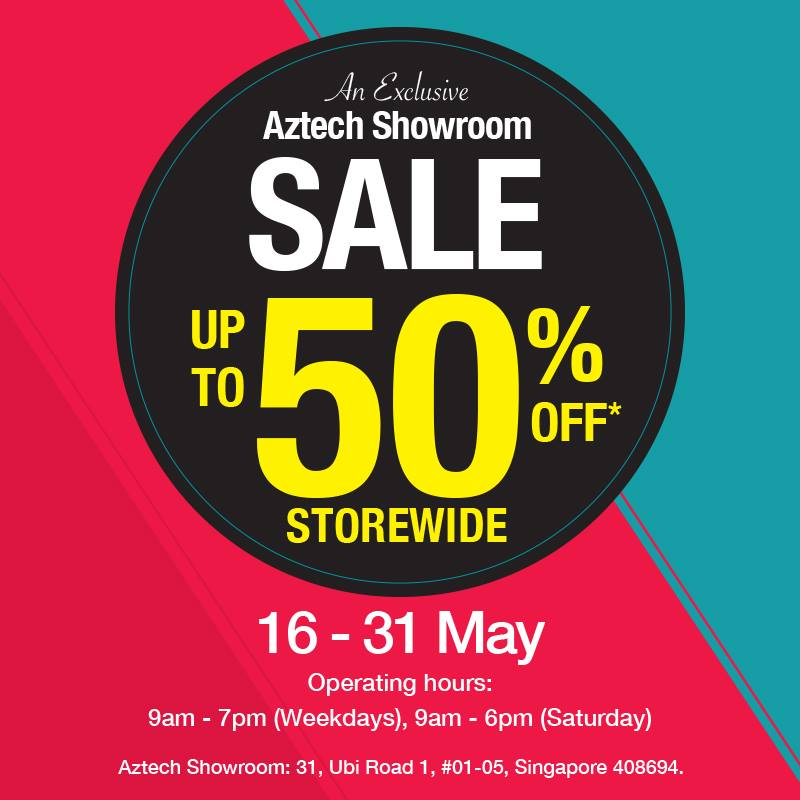 Aztech Singapore Showroom Sale 16 to 31 May 2016