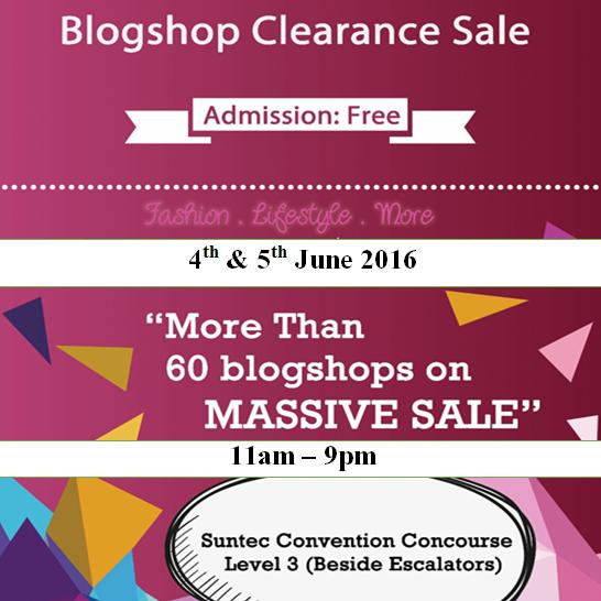 Blogshop Clearance Sale Bazaar 4 to 5 Jun 2016