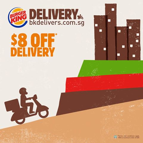 Burger King $8 Off Delivery