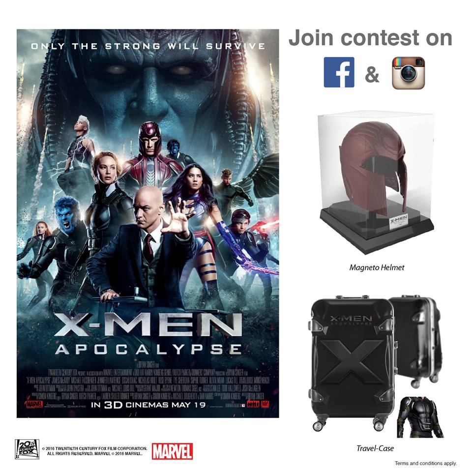 Cathay Cineplexes Stand to Win X-Men Movie Collectibles Ends 22 May 2016