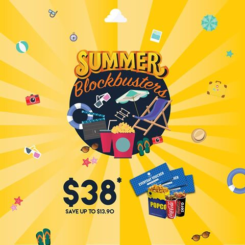 Cathay Cineplexes Summer Blockbuster Movie Package $38 ends 31 Jul 2016