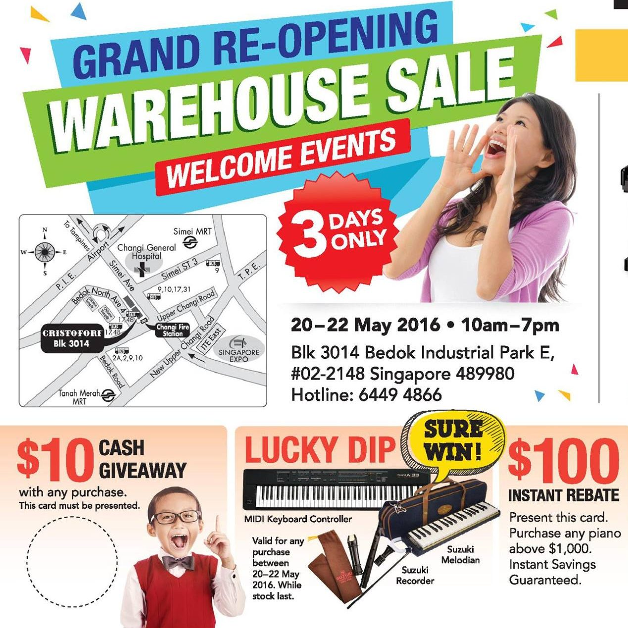 Christofori Grand Re-opening Warehouse Sale 20 to 22 May 2016