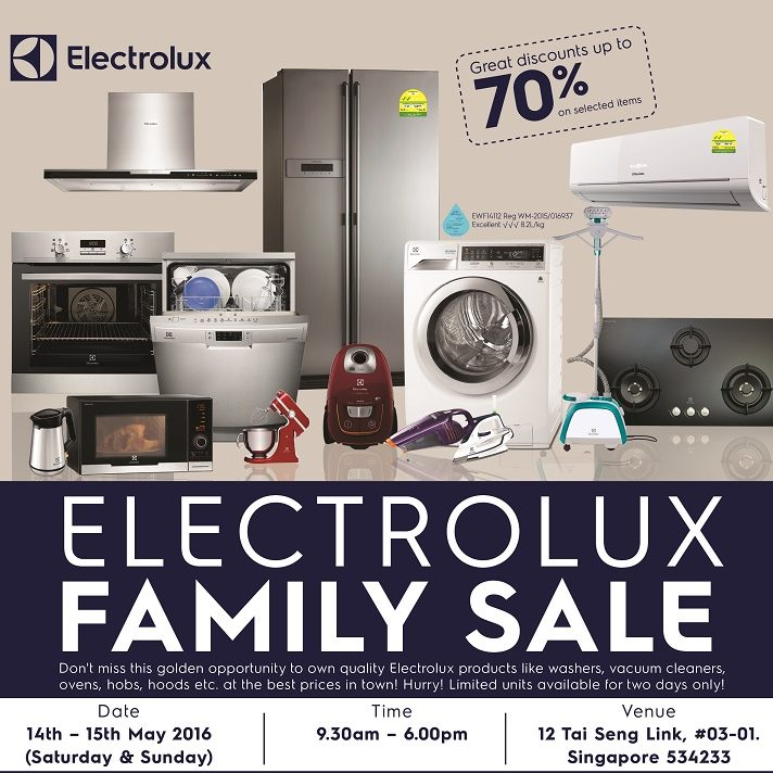 Electrolux Family Sale 14 to 15 May 2016