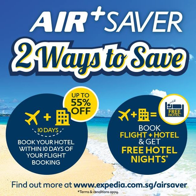Expedia Singapore Air+ Saver Book Flight & Hotel to get FREE Hotel Nights