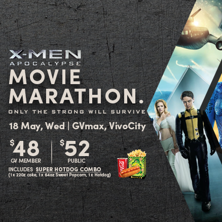 Golden Village X-Men Movie Marathon & Stand to Win Roundtrip Flights 18 May 2016