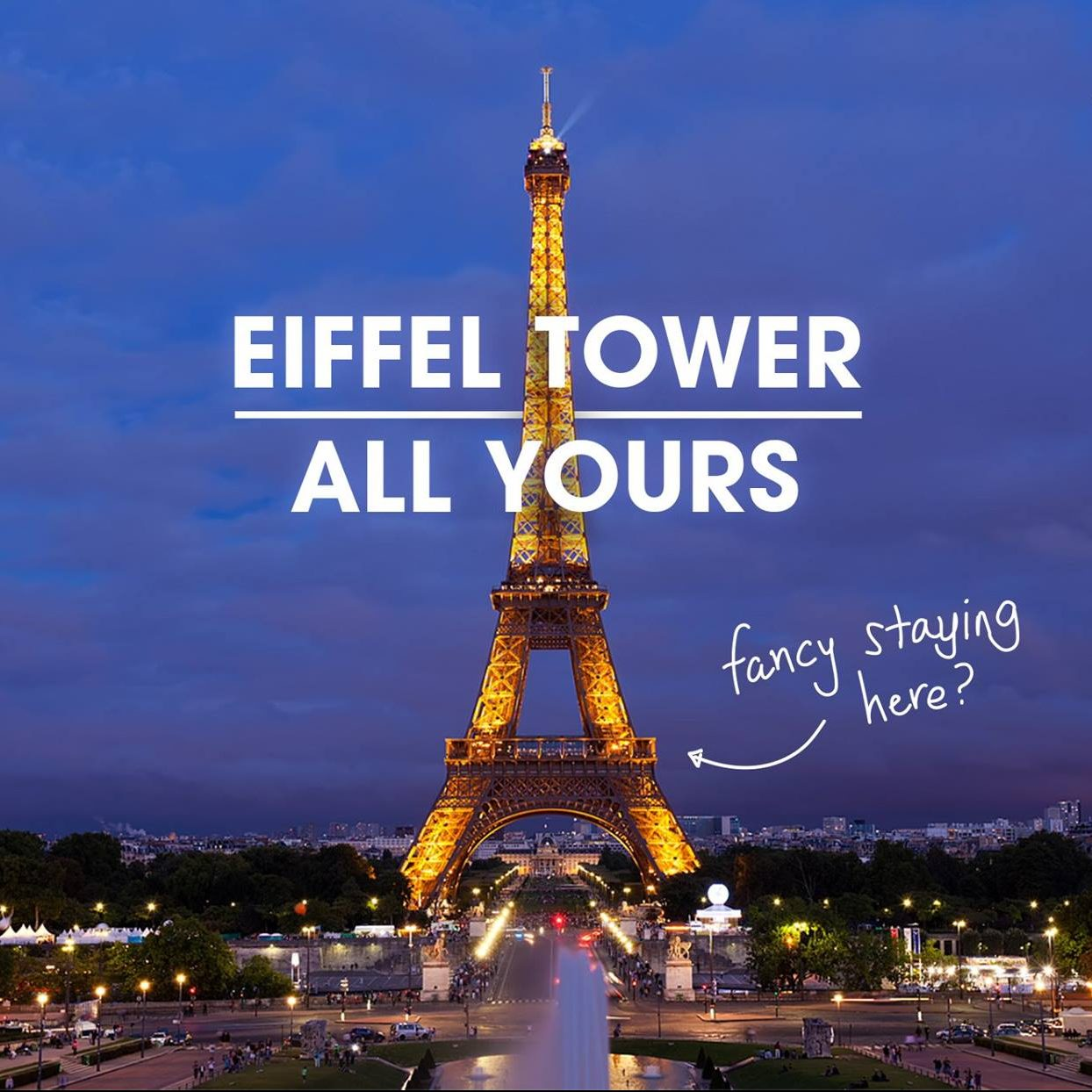HomeAway Once-in-a-lifetime Opportunity Spend a Night at Eiffel Tower
