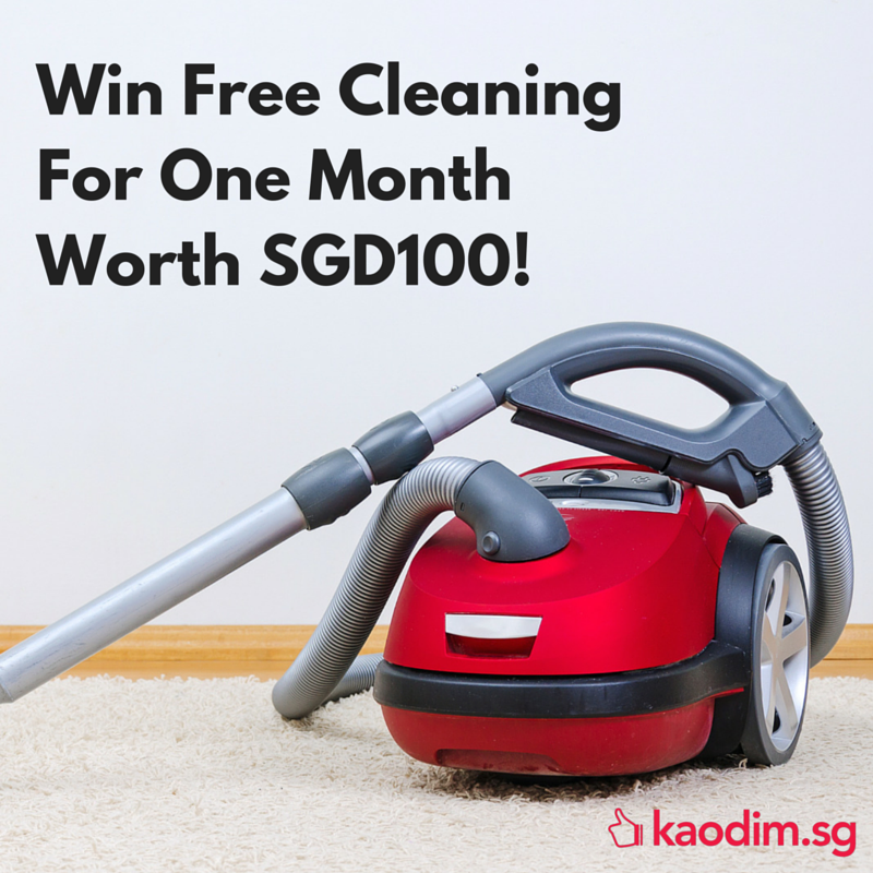 Kaodim Singapore Win 1 Month Free Cleaning in 3 Steps ends 31 May 2016