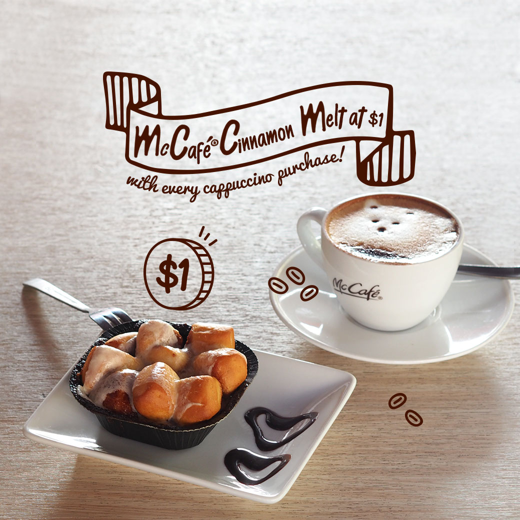 McDonald's McCafe's signature Cinnamon Melt at only $1