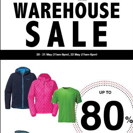 Outdoor Life Warehouse Sale 20 to 22 May 2016