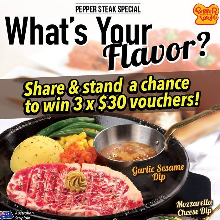 Pepper Lunch Special Free Dipping Sauce Contest Ends 2 Jun 2016
