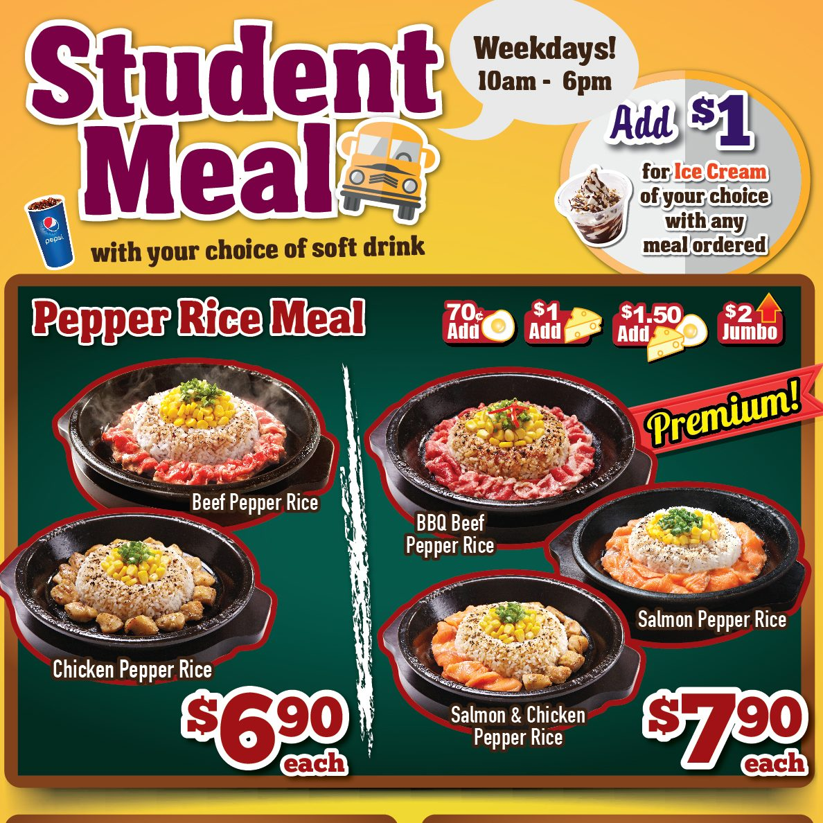 Pepper Lunch Student Meal from $6.90 only ends 30 Sep 2016