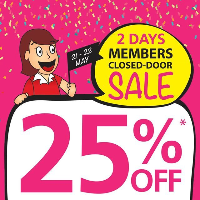 Popular 2 Days Members Closed-Door Sale 21 to 22 May 2016
