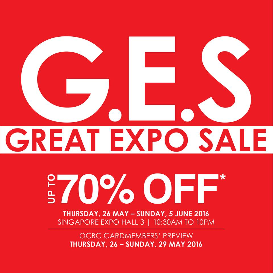 Robinsons Great Expo Sale Up to 70% Off 26 May to 5 Jun 2016