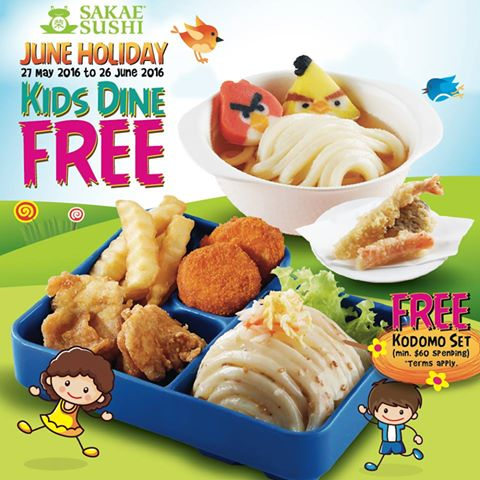 Sakae Sushi Singapore Kids Dine FREE 27 May to 26 Jun 2016
