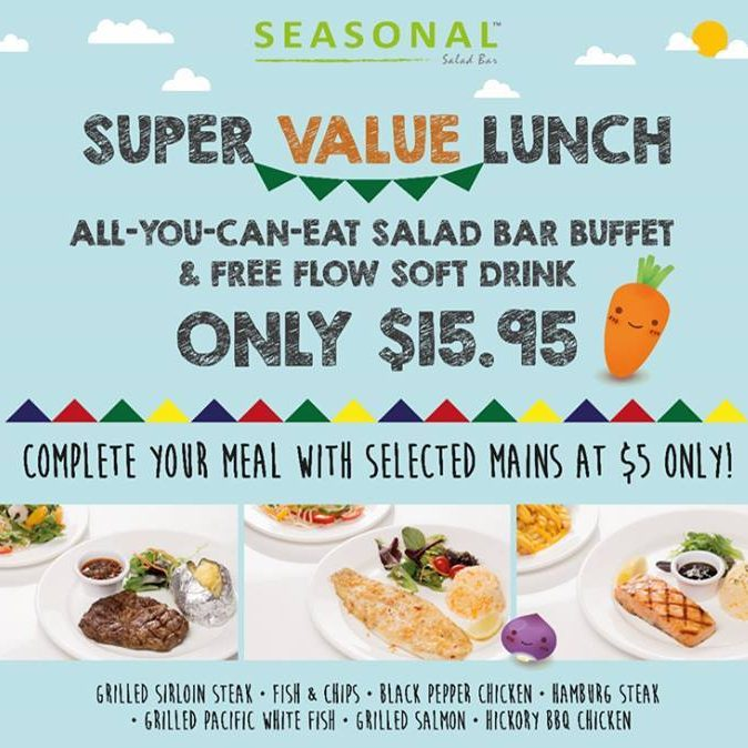 Seasonal Salad Bar Chinatown Super Value Lunch Ends May 2016