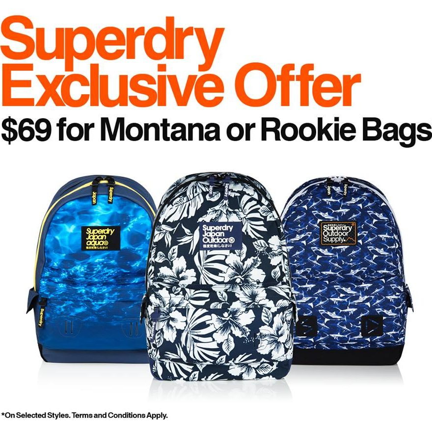 Superdry Singapore Exclusive Offer for Montana or Rookie Bags
