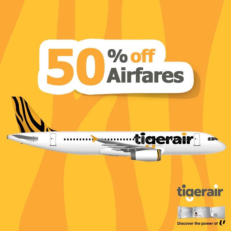 Tigerair SG NTUC Member Special 30 May to 2 Jun 2016