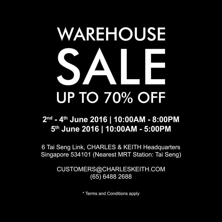 Charles & Keith Singapore Warehouse Sales 2 to 5 Jun 2016