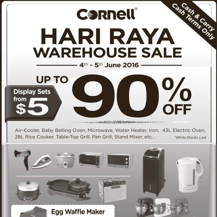 Cornell SG Hari Raya Warehouse Sale 4 to 5 Jun 2016