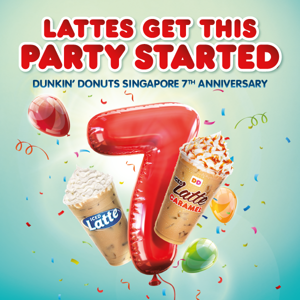 Dunkin' Donuts SG Buy 1 Latte & Get 1 Another FREE ends 19 Jun 2016
