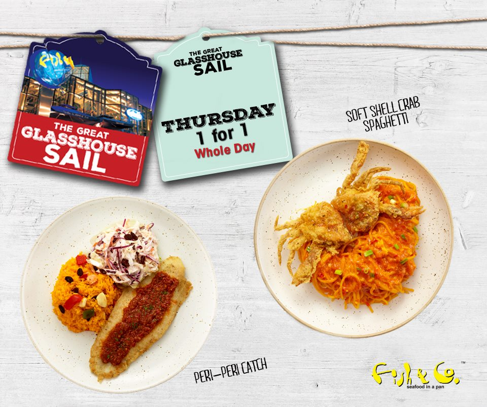 Fish & Co SG 1 For 1 Main Course Mon to Fri ends 31 Jul 2016 - Why Not Deals 2