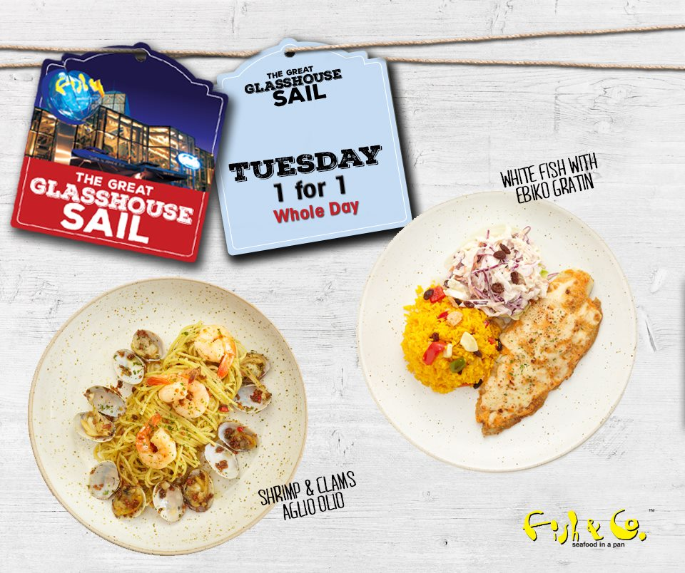 Fish & Co SG 1 For 1 Main Course Mon to Fri ends 31 Jul 2016 - Why Not Deals 3