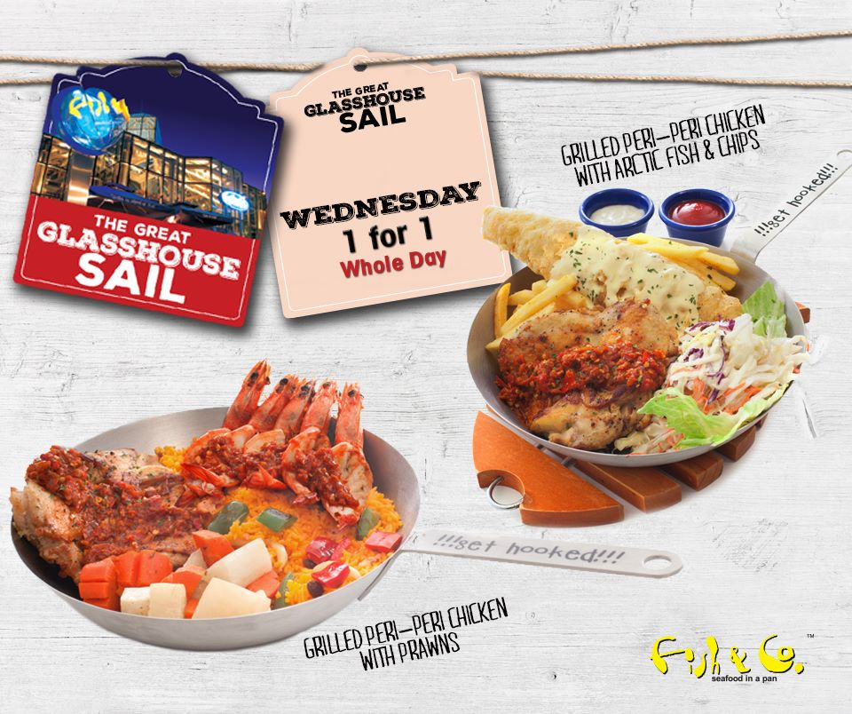 Fish & Co SG 1 For 1 Main Course Mon to Fri ends 31 Jul 2016 - Why Not Deals 4