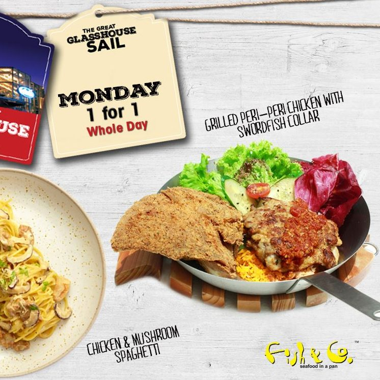 Fish & Co SG 1 For 1 Main Course Mon to Fri ends 31 Jul 2016