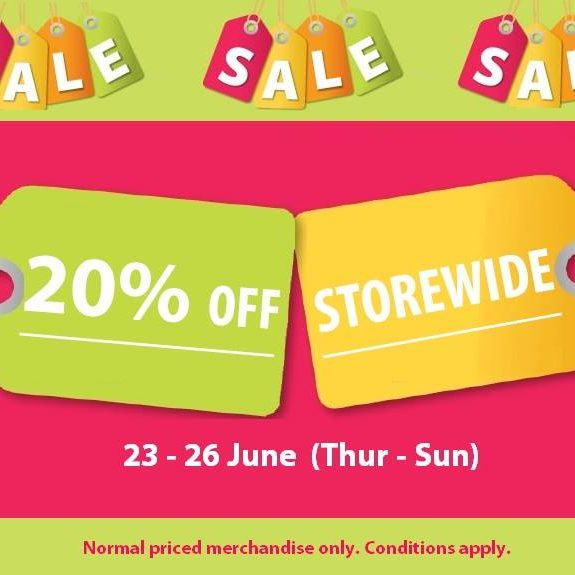 Howards Storage World SG 20% Off Storewide 23 to 26 Jun 2016